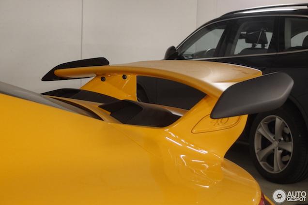 'Speed Yellow' staat de 911 GT3 bloedmooi!