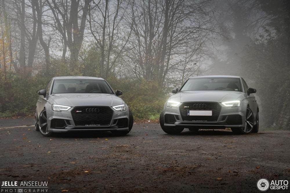 Zoek de verschillen: 2x Audi RS3 Sedan