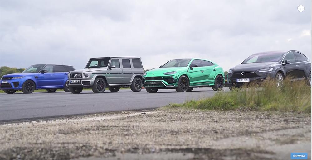 视频:嗜油休旅车对垒特斯拉 Model X