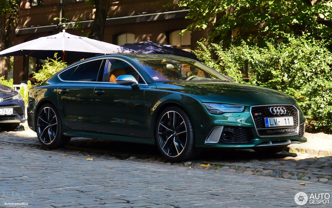Groene Audi RS7 Sportback is een zeldzaamheidje