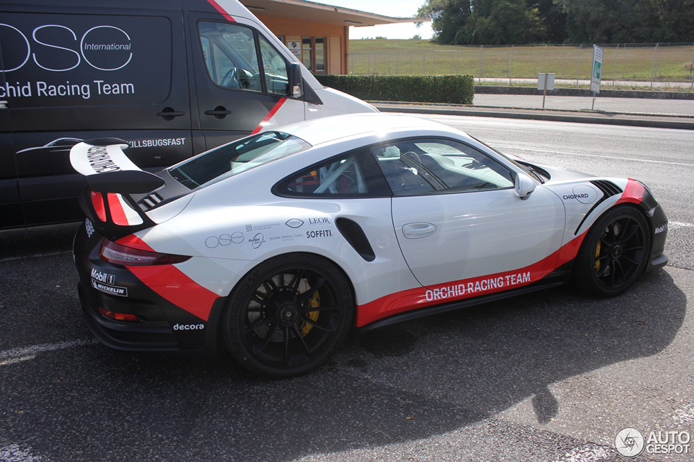 Gespot: Porsche 991 GT3 RS met stoere race livery