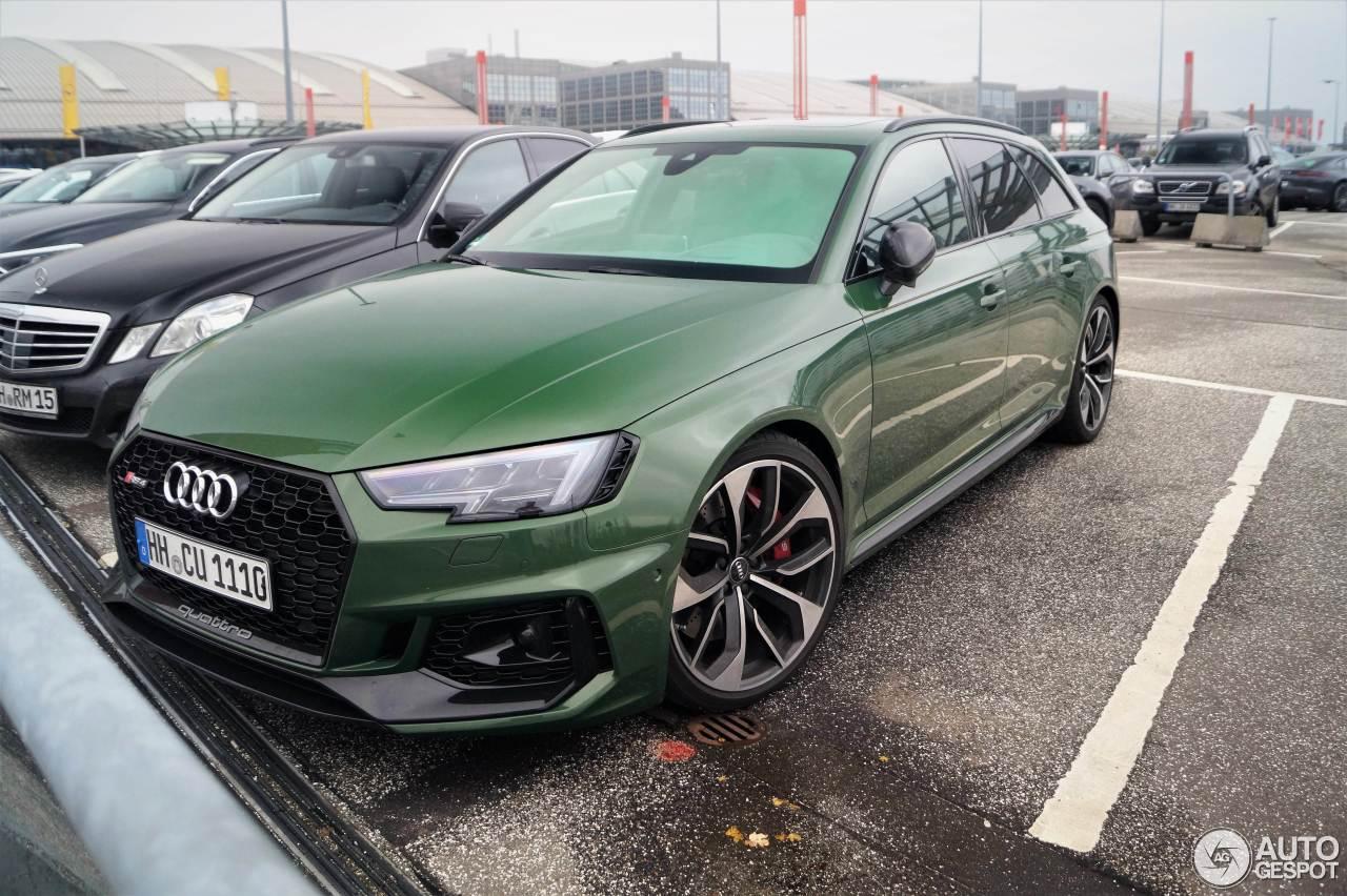 Groen maakt de Audi RS4 Avant lekker opvallend