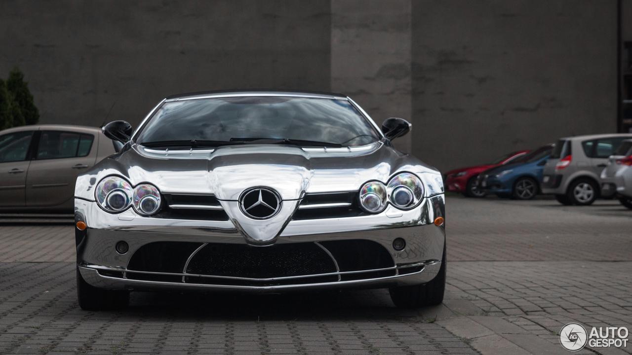 Chromen Mercedes-Benz SLR McLaren Roadster is verrassend gaaf