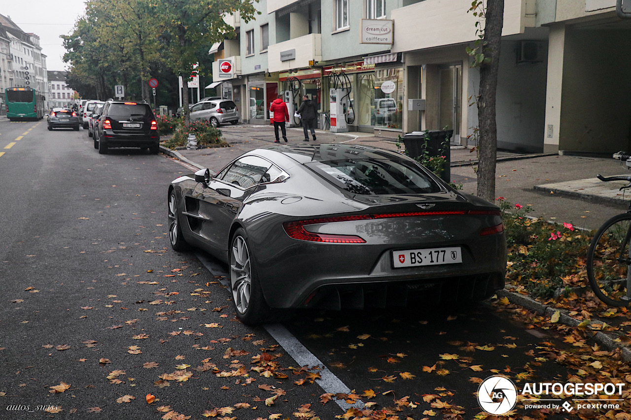 Na 6 maanden weer een Aston Martin One-77 gespot