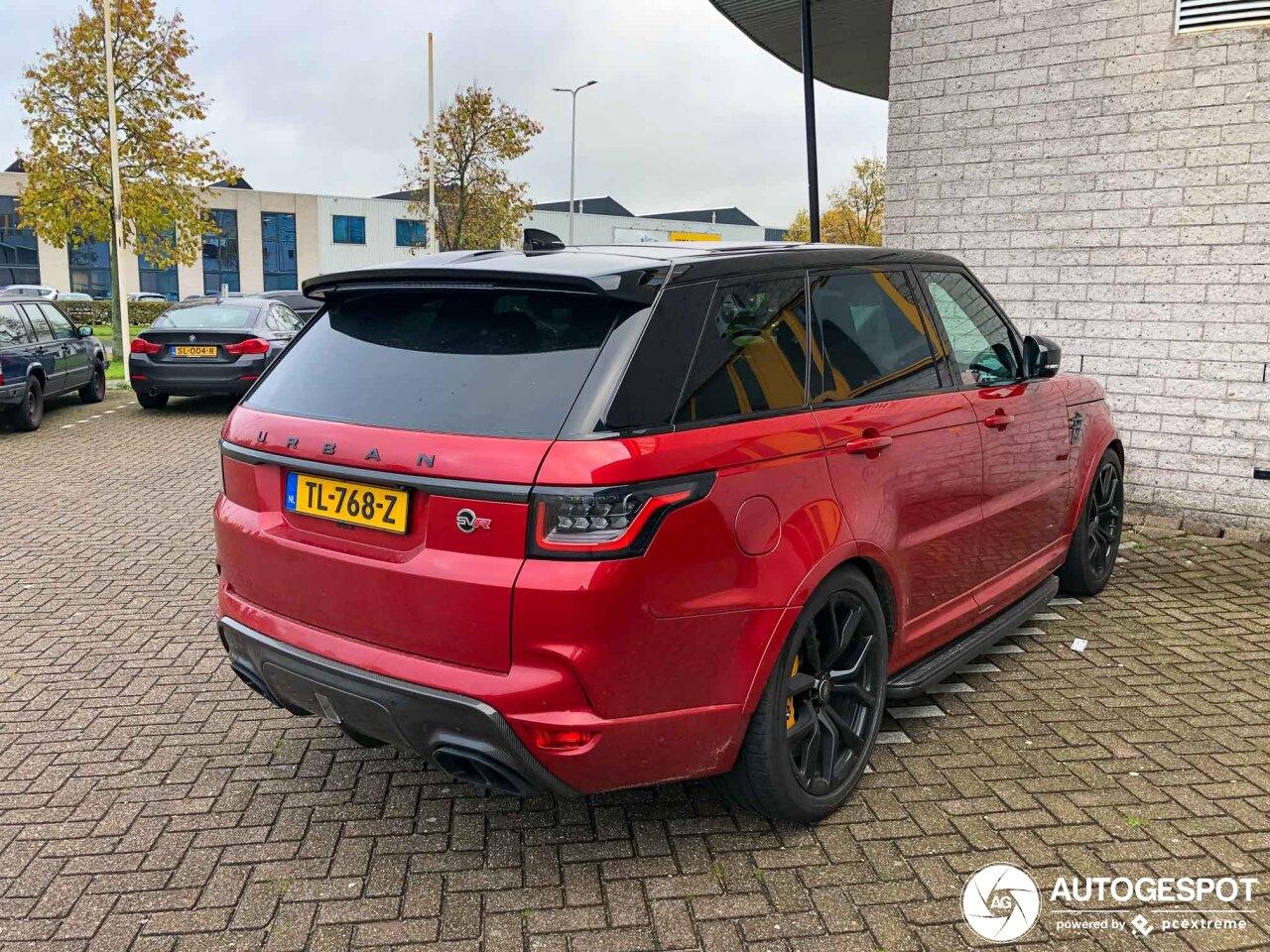 Nederlandse Range Rover Sport SVR mag graag opvallen