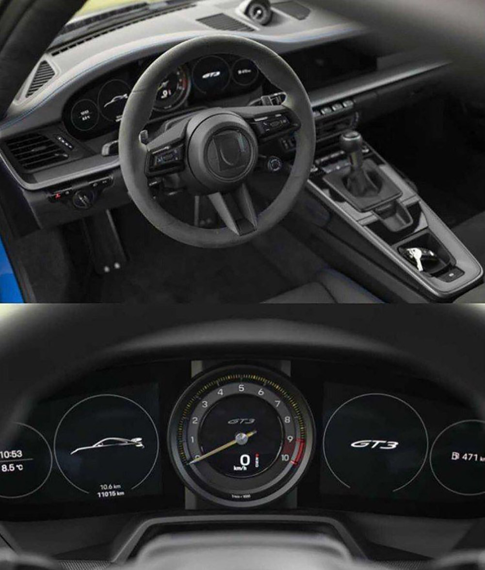 This is the interior of the Porsche 992 GT3