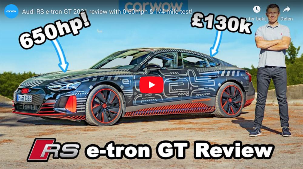 Filmpje: carwow legt ons alles uit over de Audi RS e-tron GT