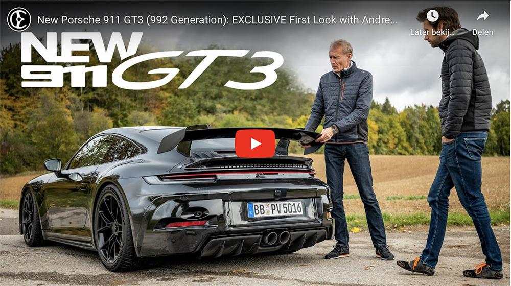 Weer krijgen we iets meer te weten over de nieuwe Porsche GT3