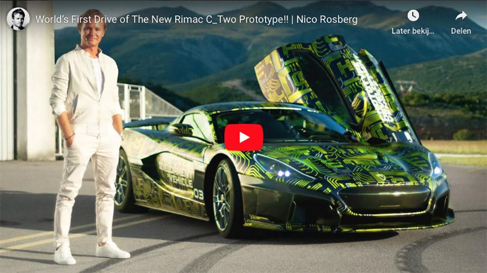 Nico Rosberg test voor het eerst de Rimac C_TWO
