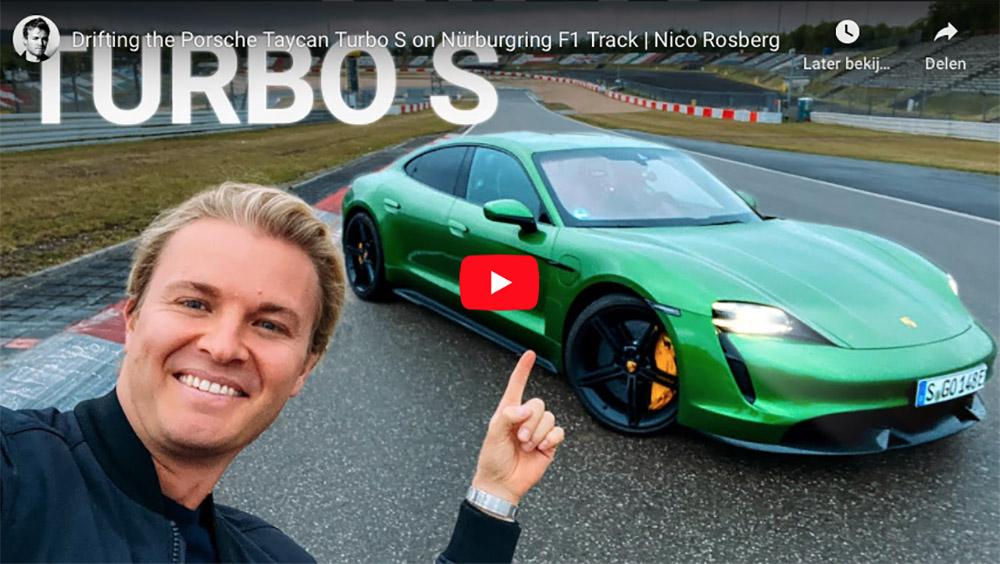 Nico Rosberg neemt de Porsche Taycan mee op Nürburgring