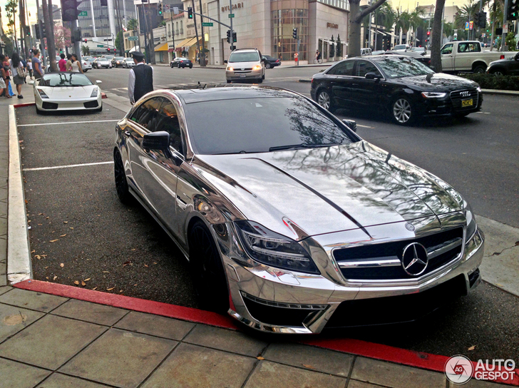 Eyecatching: chrome Mercedes-Benz CLS 63 AMG