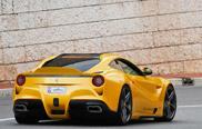 Un rendu de la Ferrari F12berlinetta Giallo Acquila
