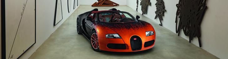 Художественный Bugatti от Bernar Venet