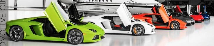 Movie: photoshoot cu sase  Lamborghini Aventadors suna ca un vis