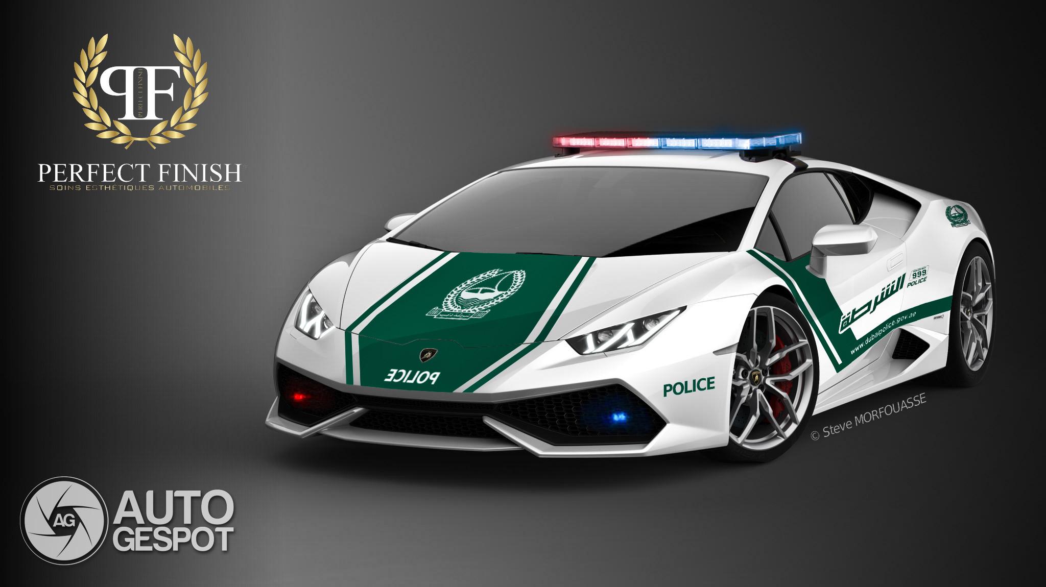 Rendering Of The Lamborghini Hurac 225 N In Police Livery