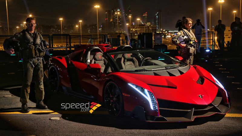 Superieur Veneno Roadster Presented On Aircraft Carrier Nave Cavour. Lamborghini ...