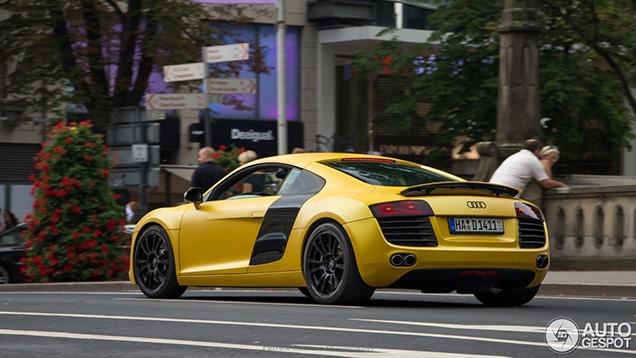 Gele Audi R8 is erg, heel erg fijn