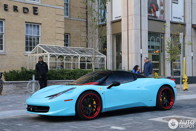 Baby Blue Ferrari 458 Spider Is A Fancy Appearance In Toronto