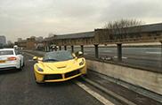 Une Ferrari LaFerrari accidentée à Londres