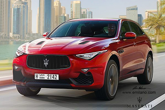 rendering maserati levante. Black Bedroom Furniture Sets. Home Design Ideas