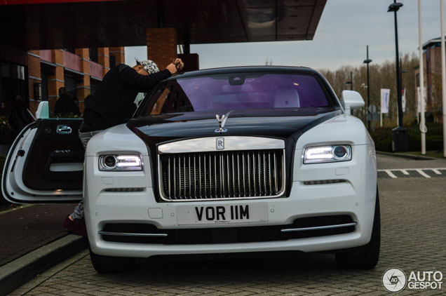 Picture of his Rolls Royce Wraith   car