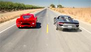 Video: Porsche 918 versus Ferrari Enzo