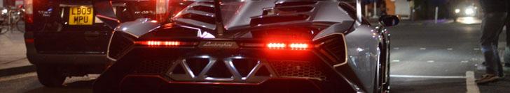 Lamborghini Veneno parading through London