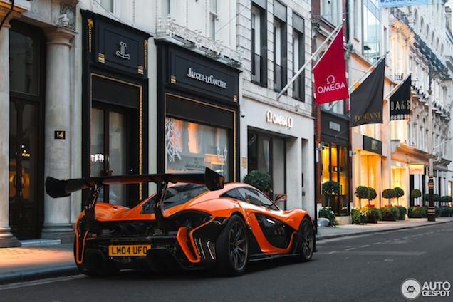 Fantastische McLaren P1 LM in Londen!