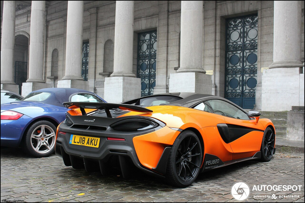 McLaren 600LT gespot in Brussel Centrum