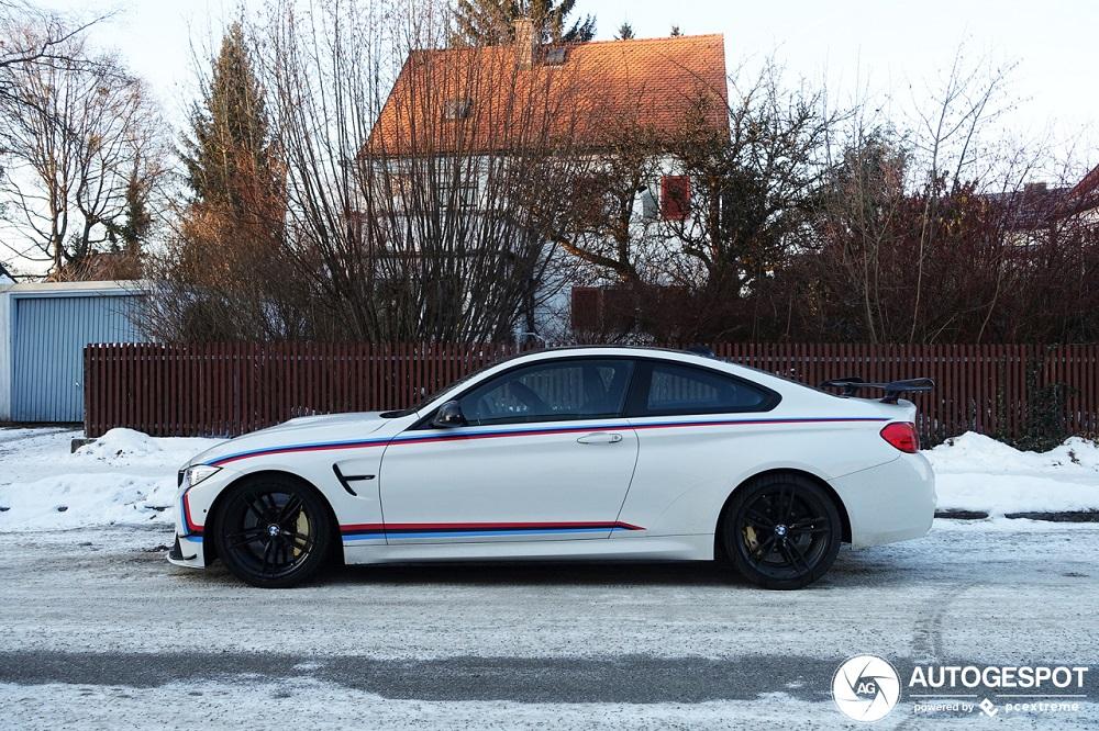 Gewaagd: met je BMW M4 op de sneeuw
