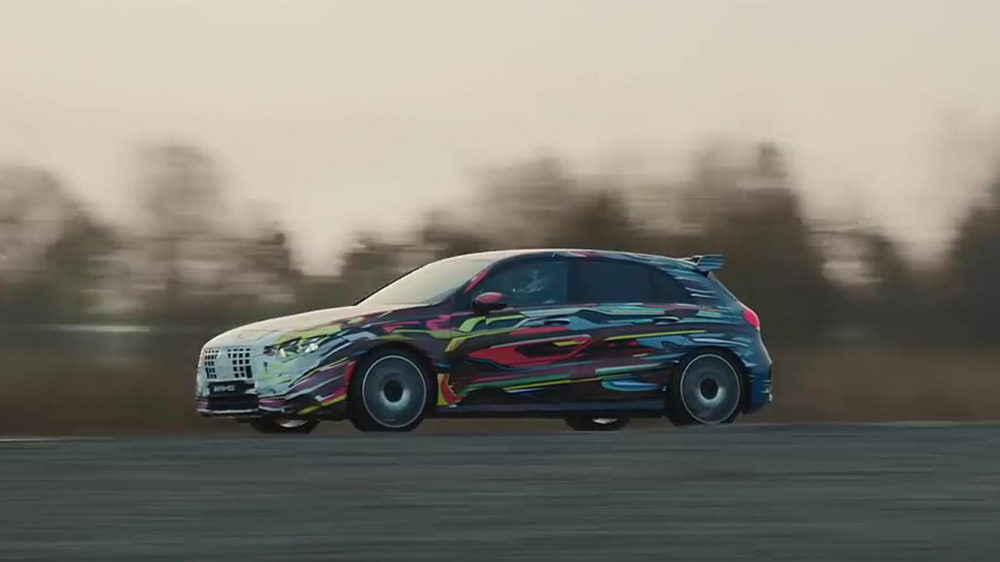 Mercedes-AMG laat ons alvast een beetje van de A 45 S zien