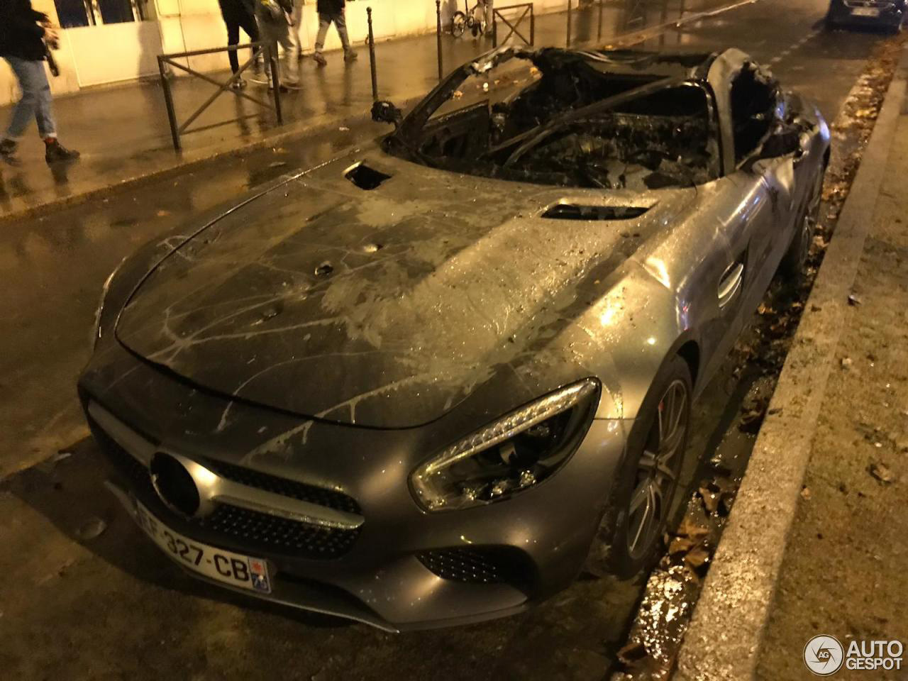 Mercedes-AMG GT S heeft Franse rellen niet overleefd