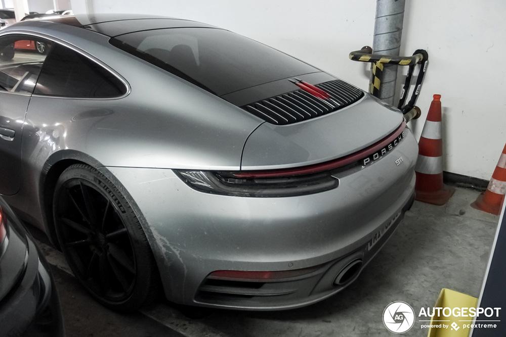 Porsche 992 Carrera S wederom gespot zonder camouflage