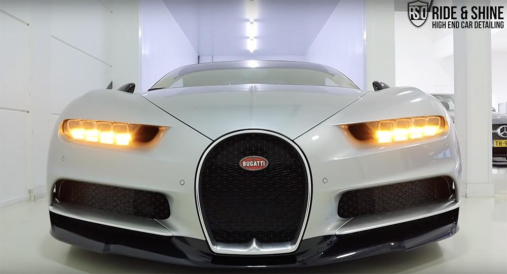Filmpje: Bugatti Chiron wordt vertroeteld