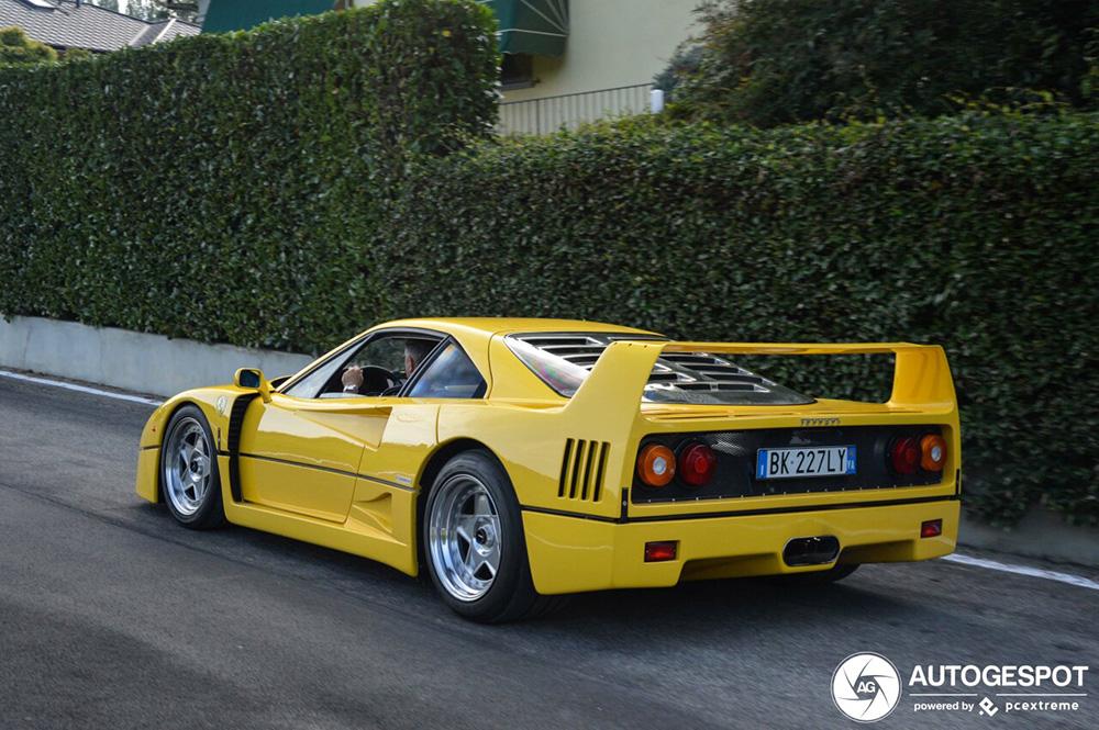 Lekker geel: Ferrari F40