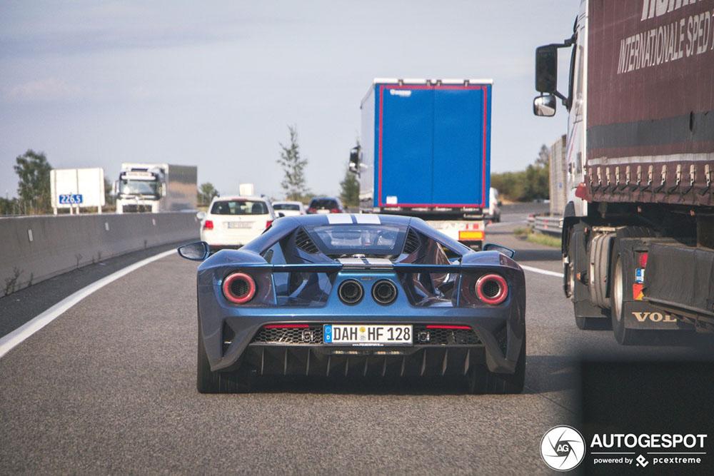 Ford GT in actie in Oostenrijk