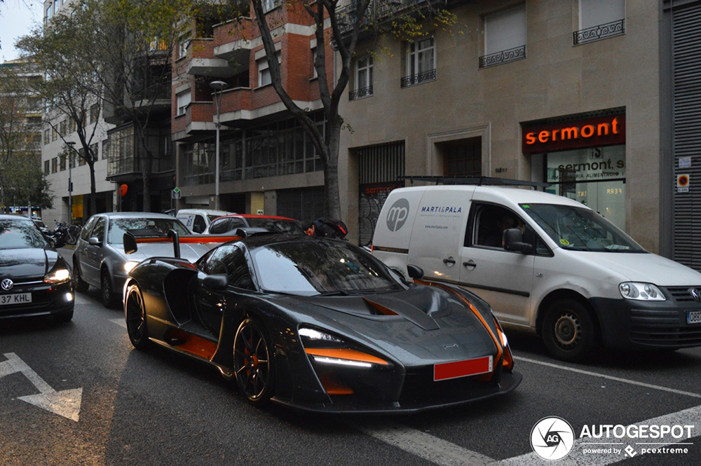 Nieuwe McLaren Senna duikt op in Barcelona