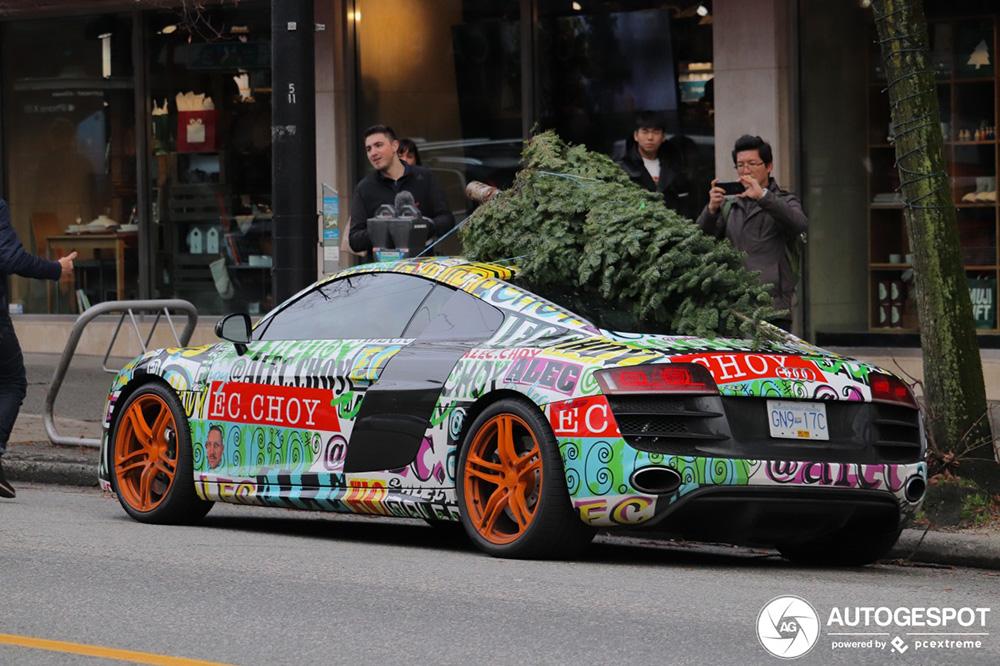 Kerstboom halen met je Audi R8 V10, het kan