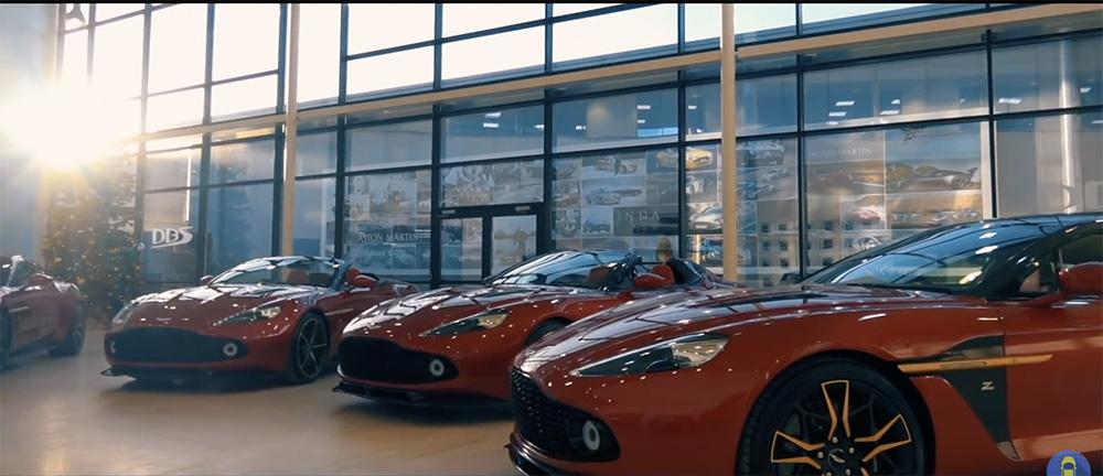 Filmpje: iemand is gelukkig met viermaal Aston Martin Vanquish Zagato