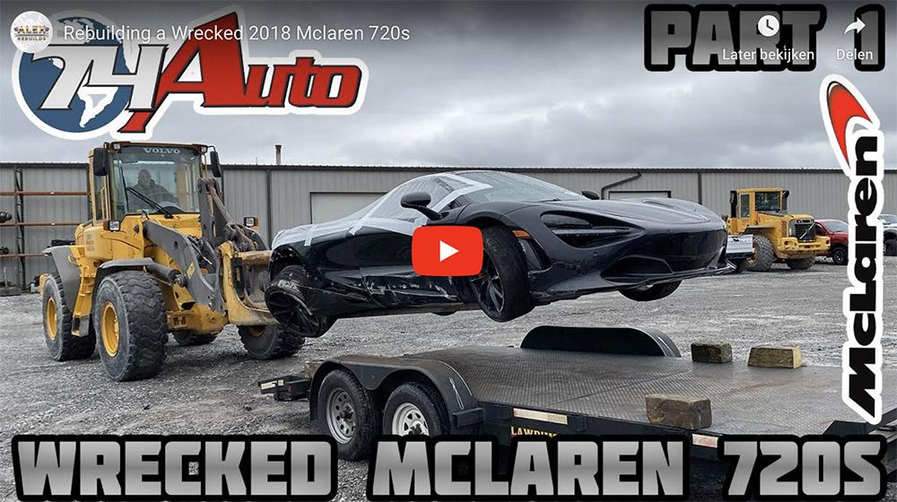 Filmpje: McLaren 720S met schade wordt opnieuw opgebouwd