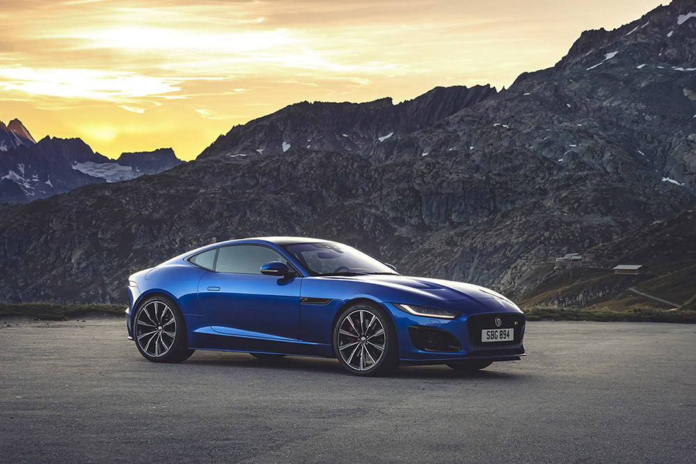 The new and refreshed Jaguar F-TYPE looks slick