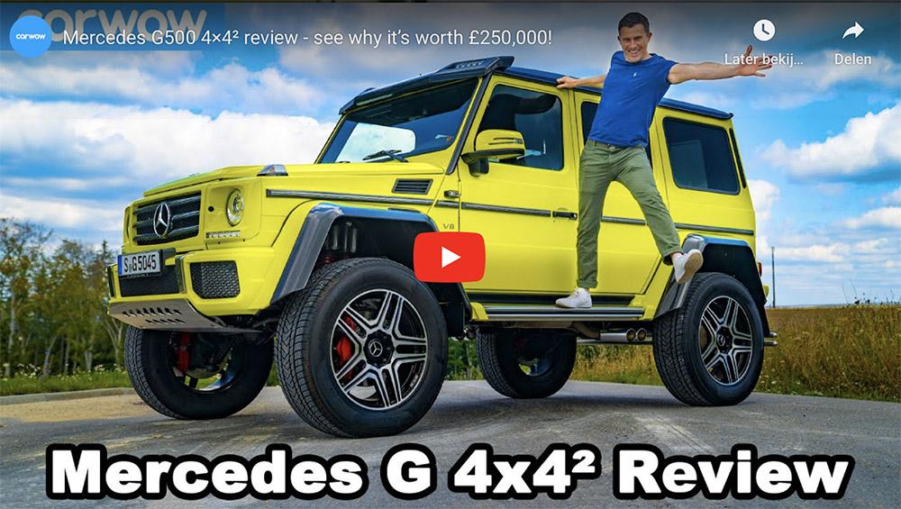 Filmpje: leer alles over de Mercedes-Benz G500 4×4²