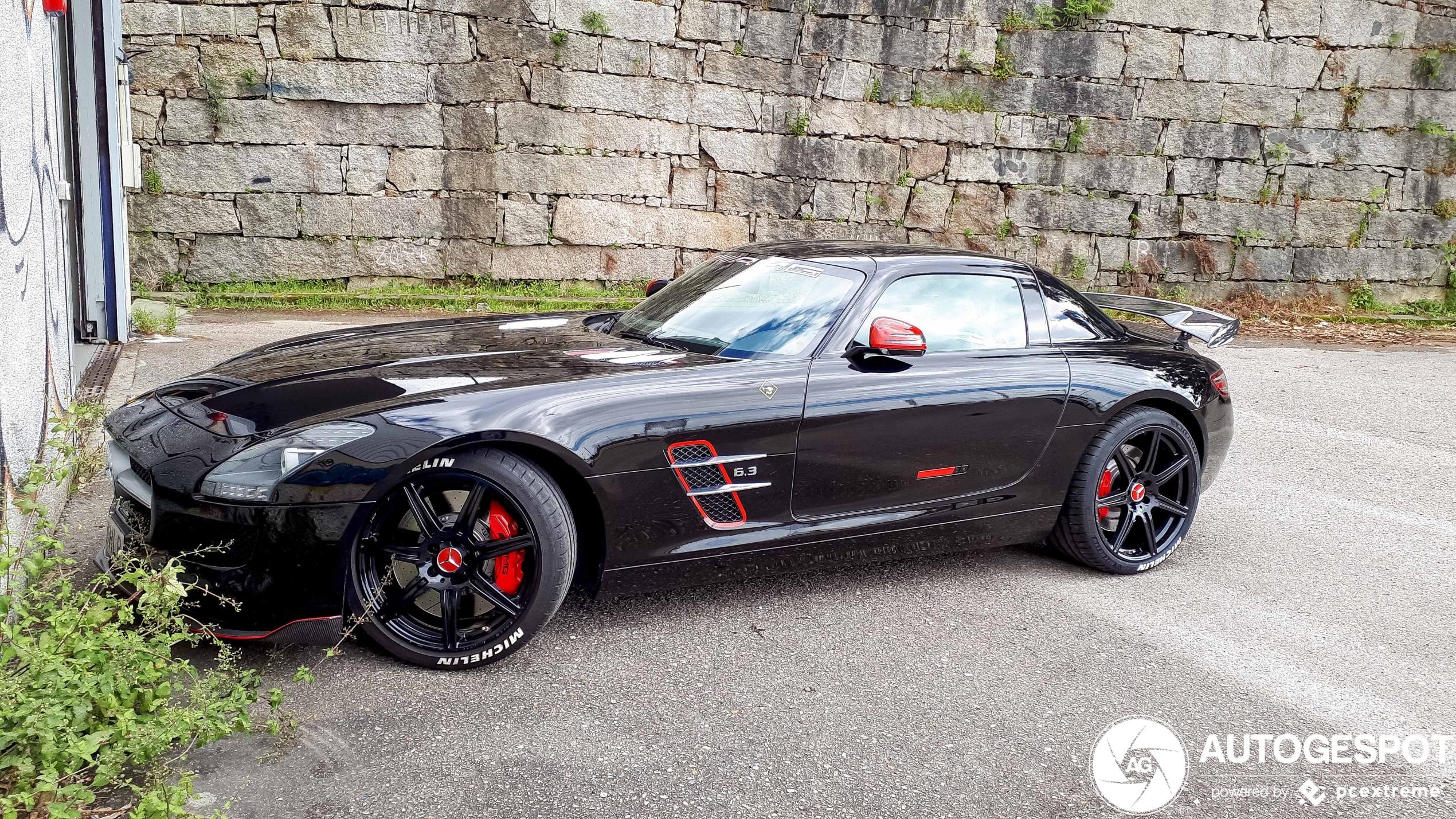 Mercedes-Benz SLS AMG is in verkeerde handen gevallen
