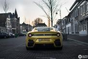 Spot van de dag: Gele Ferrari F12tdf op Hollandse platen